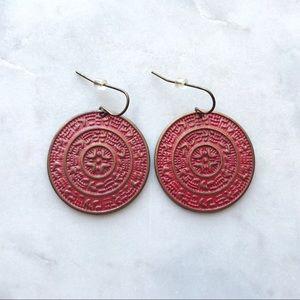 Anthropologie Boho Coin Earrings